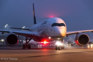 Lufthansa A350 Arrival