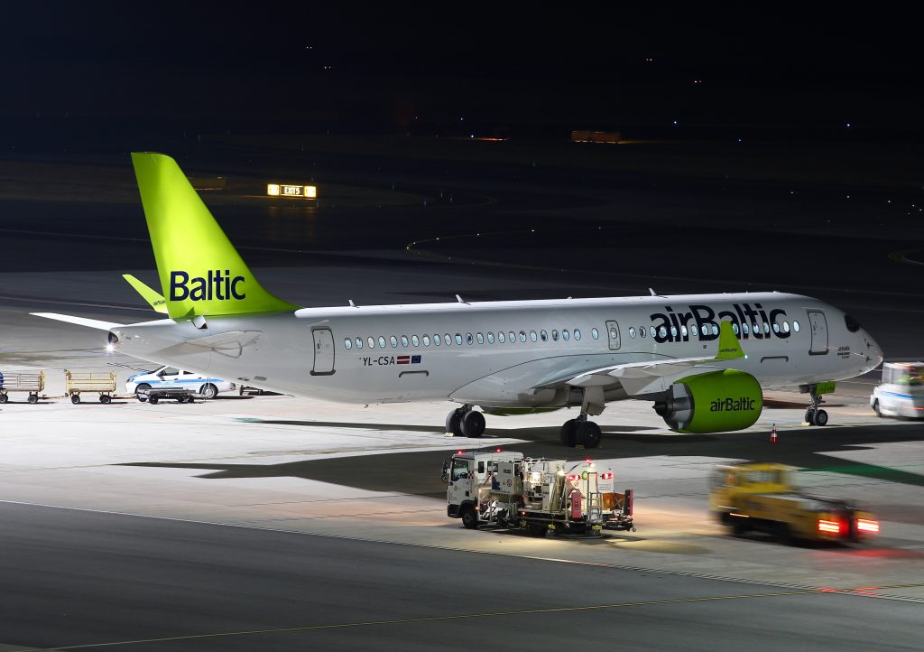 Air Baltic CS300 in Vienna