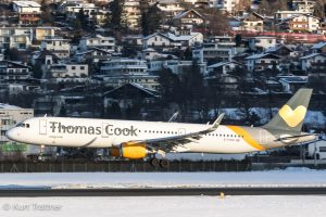 Thomas Cook A321 seconds before touchdown at INN