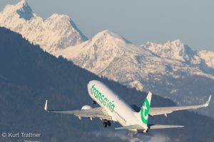 Transavia 737 blasting out of INN