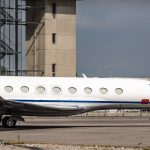 Gulfstream G650 at the apron of TRS